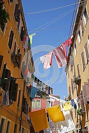 Free Washing Day Venice. Royalty Free Stock Photography - 7448497