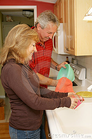 Free Washing Dishes At Home Royalty Free Stock Images - 4482499