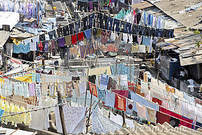Washing lines laundry patterns Dhobhi Ghat