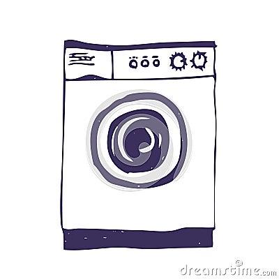 Washing machine. Isolated