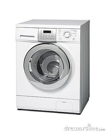 Free Washing Machine Isolated On White Royalty Free Stock Photos - 41323678
