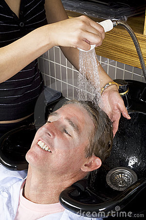 Washing a man s hair  2