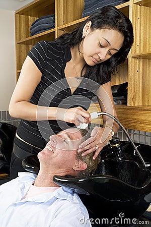 Washing a man s hair 2