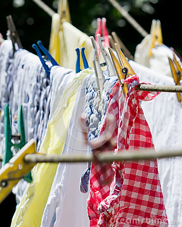 Free Washing On The Line Royalty Free Stock Image - 25320206