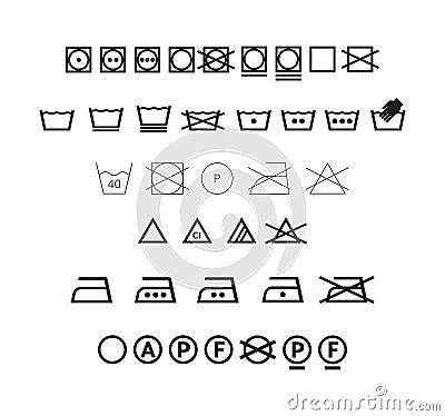 Washing symbols set