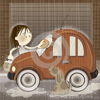 Free Washing The Car Royalty Free Stock Image - 126695286
