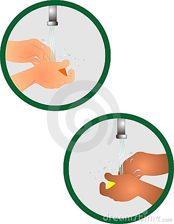 Washing your hands icon