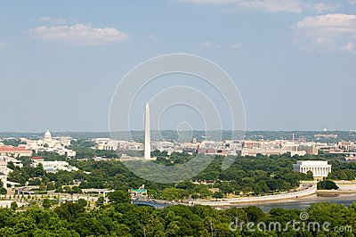 Washington D.C. aerial view