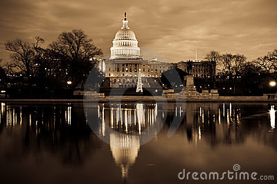 Washington DC - Capitol building in sepia