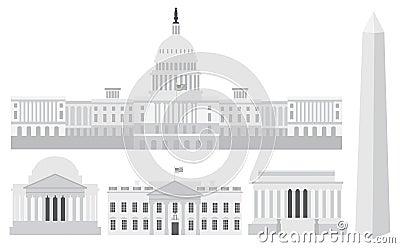 Washington DC Capitol Buildings and Memorials