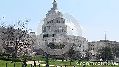 Washington DC ernstlich, mittleren Schuss im Frühjahr errichtend stock video