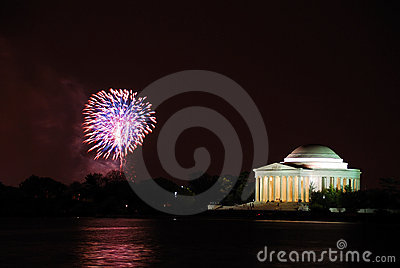Washington DC fireworks show
