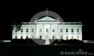 Washington, DC - Front of the White House at night