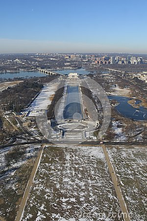 Free Washington DC In Winter, Aerial View Stock Photo - 106811250