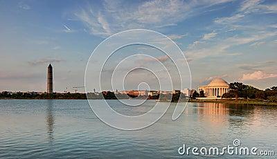 Washington DC - Jefferson Memorial and Monument Editorial Photo