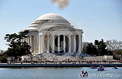 Washington, DC:  The Jefferson Memorial Editorial Image