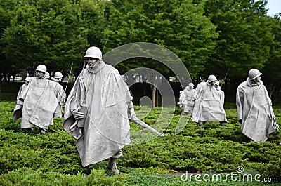 Washington DC, Korean War Memorial Editorial Photography