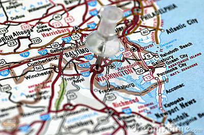 Washington DC in map