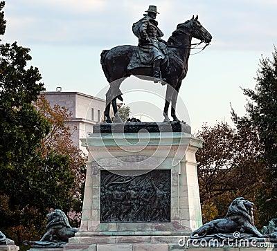 Washington DC memorável de Capitol Hill da estátua dos E.U. Grant