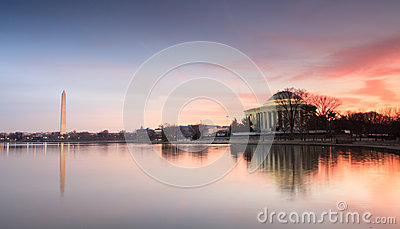 Washington DC Monuments Sunrise