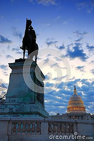 Washington DC in the morning.