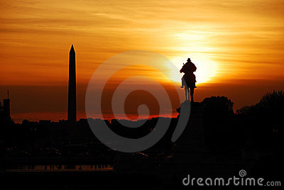 Washington DC sunset