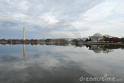 Washington DC Tidal Basin & Monuments