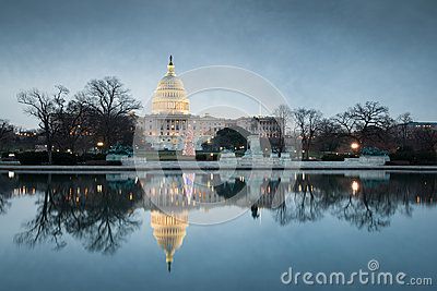 Washington DC United States Capitol Building Christmas
