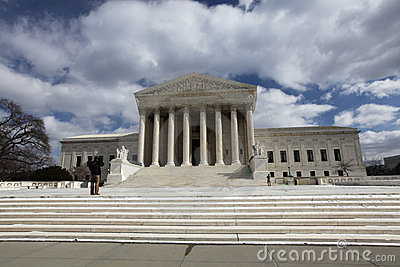 Washington DC United States Supreme Court Building Editorial Image
