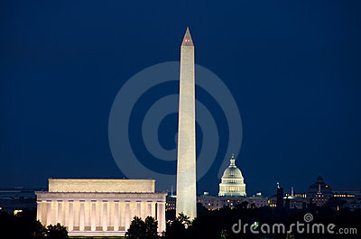 Washington DC, USA - night scene