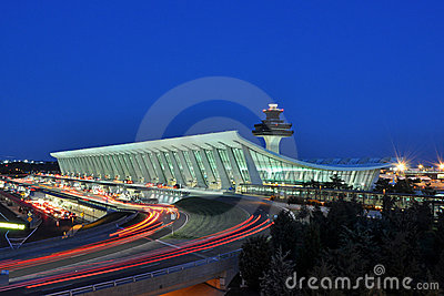 Washington Dulles International Airport at Dusk
