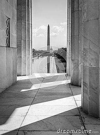 Free Washington Monument From Lincoln Memorial, Washington, DC Royalty Free Stock Photo - 75908105