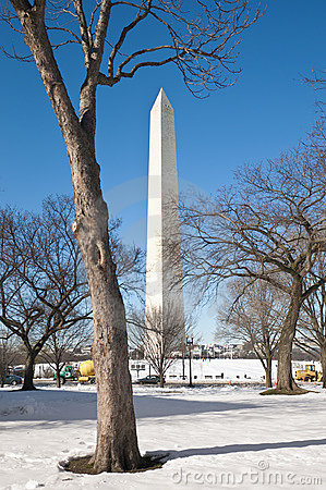 The Washington Monument at The Mall in DC, USA