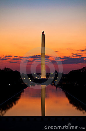 Free Washington Monument Sunrise Stock Images - 14063494