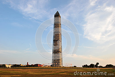 Washington Monument Under Renovation Editorial Photography