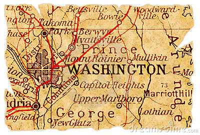Washington old map