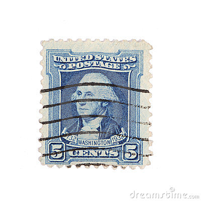 Washington postage stamp 1932 Editorial Photo