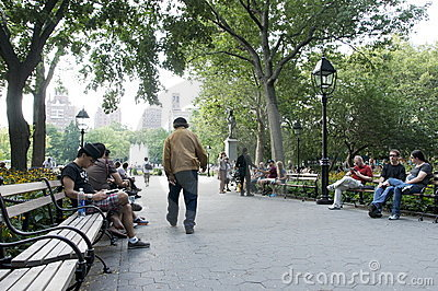 Washington Square, New York City Editorial Stock Image