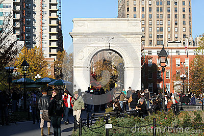 Washington Square Park NYC Editorial Photo