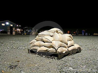 Washington State Flooding - Sandbags Editorial Photography