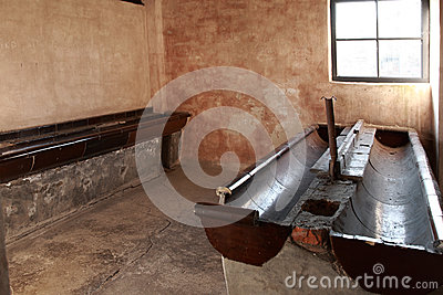 Washroom block, Auschwitz concentration camp Editorial Photo