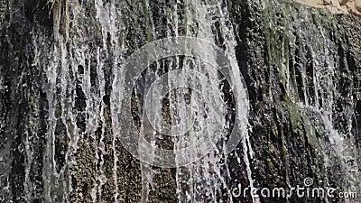 Wasserfall in übertragendem Gefühl der Zeitlupe des Friedens und der Harmonie stock video