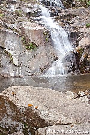 Wasserfall im Süden von Thailand.