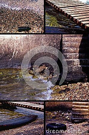Wasserverschmutzung nahe Strand