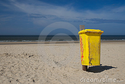 Waste Bin on the beach