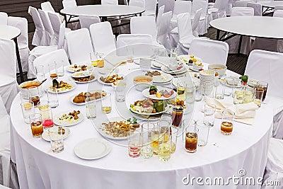 Waste food after dinner