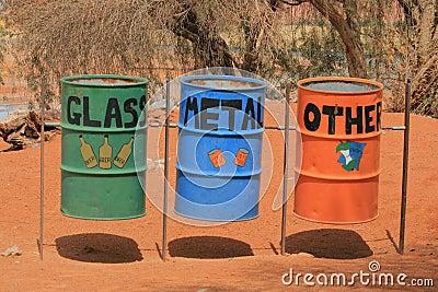 Waste garbage bins