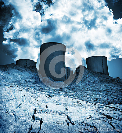 Waste land, industrial environment pollution