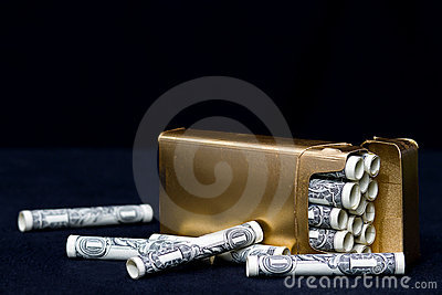 Wasteful Habit - Concept Smoking