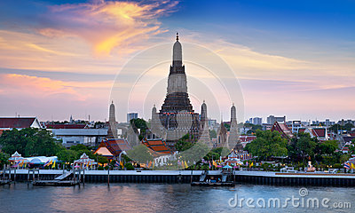 Wat Arun, Landmark and No. 1 tourist attractions in Thailand.